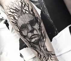 Tree Face tattoo by Fredao Oliveira