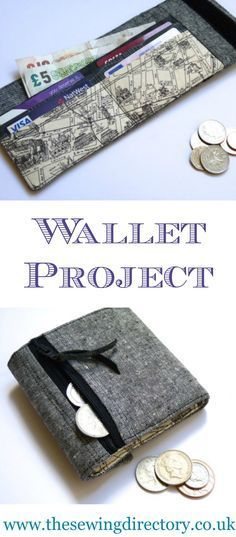 Man's wallet sewing project using fat quarters of fabric.