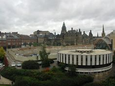 """The """"Wedding Cake"""" Registry Office and Peace Gardens before the St. Paul's development #socialsheffield"""