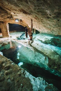 Traveling to Mexico soon? Here are some of the top cenotes to visit on a vacation in Mexico - the underground Tak Be Ha cenote in Tulum is a must!