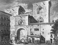 Dibujo de la defensa de las torres de Quart, ante el primer ataque del ejercito francés, durante el mes de junio de 1808. Fue pintado por el pintor valenciano Vicente López Portaña