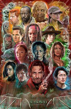 El Walking Dead temporada 6 por TheArtofGARD en Etsy