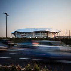 Parc Olympique Lyonnais by Populous in Lyon, France, stadium architecture for Euro 2016