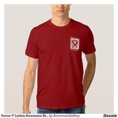 Factor V Leiden Burgundy Awareness Ribbon Angel Custom Tee Shirt