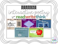 Bright Ideas: Student Interactive Poetry on ReadWriteThink.org