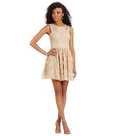 Jodi Kristopher Bead UNeck 2Tone Party Dress #Dillards ...