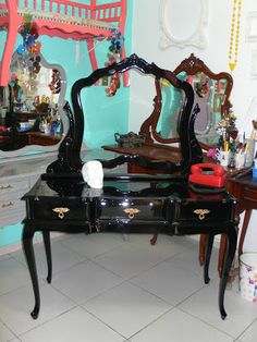 Ateliando - Customização de móveis antigos: Galeria Penteadeiras Antigas    Penteadeiras Duo by Ateliando