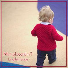 Carl's cardigan de Petite knit - Merinos rouge