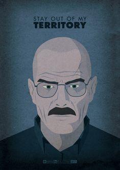 Un diseñador creo un poster por cada capitulo de la serie breaking bad....