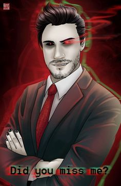 Darkiplier by Tyrine Carver of Musetap Studios WeAreAllFans: This looks kinda like Anti Hardly! did I miss you there is your answer Pewdiepie, Markiplier Fan Art, Darkiplier And Antisepticeye, Cryaotic, Jack And Mark, Youtube Gamer, Disney Songs, Dark Mark, Cute Anime Couples
