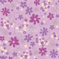 The repeat design of an floral pattern Color Purple