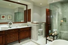 Upper East Side Townhouse - traditional - bathroom - new york - Sussan Lari Architect PC- knee wall example