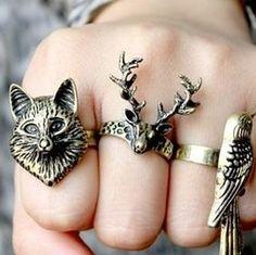 Animal rings....I like the deer one!