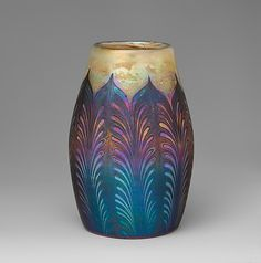 Favrile glass vase designed by Louis Comfort Tiffany (American, New York City 1848–1933 New York City) and made by Tiffany Furnaces, ca. 1906