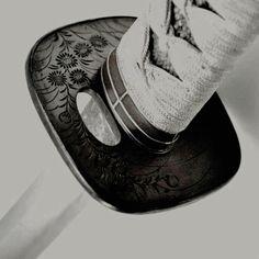 White black grey katana sword asian