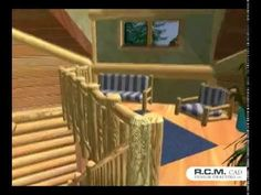 """https://www.youtube.com/watch?v=jR75lR1tJSYA 3D walk through showing the cozy interior of the """"Clubhouse"""" Floor Plan - 2665 Sq. Ft. (247.5 sq m). If you would like more information on a specific design, please call: 1 (604) 705-4321. #architect #drafting #loghomedesign"""