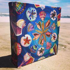 She Sells Seashells - original artwork by Meghan Sadler  This colorful shells…
