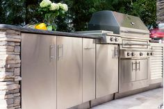 """Custom Outdoor Kitchen by Kalamazoo Outdoor Gourmet in my article ….. """"Dressed to Grill"""" … Sophisticated Skewers (Part 3)"""