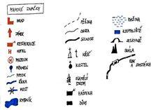 Mapové značky - Skauticiztatobit Notes, Math Equations, Hampers