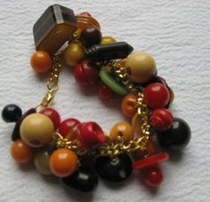 Vintage Bakelite Full Button Bracelet