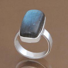 925 STERLING SILVER AMAZING LABRADORITE RING 8.51g DJR9752 SZ-8.5 #Handmade #Ring