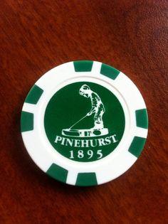 PINEHURST Golf Ball Poker Style Marker 2 Sided - Prior US OPEN Host