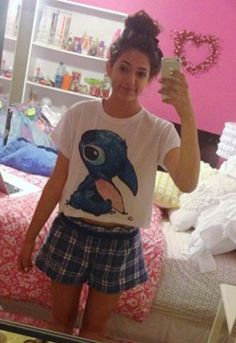 U and ur Stitch shirt!!! Love it!! How r u??