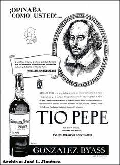 """¡William Shakespeare opinaba como usted!..."". Tio Pepe de González Byass. Archivo de José L. Jiménez."