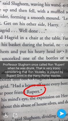 Since this is a later book, JK Rowling probably did that in purpose, since Rupert Grint played Ron in the earlier movies Harry Potter Jokes, Harry Potter Universal, Harry Potter Fandom, Scorpius Rose, Gina Weasley, No Muggles, Saga, Mischief Managed, Book Fandoms