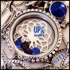 Uplift & Inspire, with a beautiful South Hill locket and Swarovski crystal droplet from South Hill Deisgns with Sarah! http://www.facebook.com/southhilldesignswithsarah