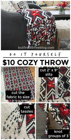 Diy Blankets No Sew, Diy Throws, No Sew Fleece Blanket, Weighted Blanket, Fleece Blankets, Cozy Blankets, Fleece Throw, Knot Blanket, Sewing Hacks