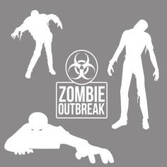 SweetumsWallDecals Zombie Wall Decal Set Color: