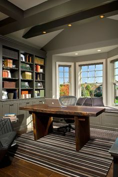 Sherwin williams Anonymous walls and Urbane Bronze built-ins