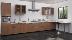 Straight modular kitchen designs