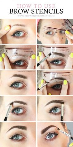 eyebrow-stencils-how-to-hacks-tips-tricks.jpg (400×800)