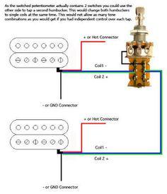 guitar wiring diagram humbuckers way lever switch volumes  guitar wiring diagram 2 humbuckers 3 way lever switch 2 volumes 1 tone individual coil taps guitar design taps guitar and pots