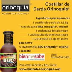 #OrinoquiaparaHoy Costillar de Cerdo Orinoquia (ingredientes)