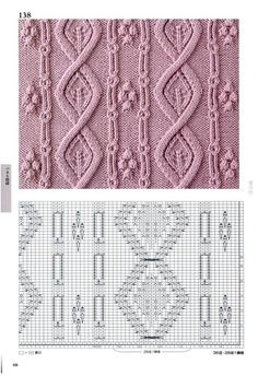 260 Knitting Pattern Book by Hitomi Shida 2016 — Yandex. Cable Knitting Patterns, Knitting Stiches, Knitting Charts, Lace Knitting, Knitting Designs, Knit Patterns, Knitting Projects, Stitch Patterns, Knit Crochet
