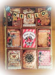 Rose Azure Printable Journal Pocket Letter by DT Yvonne