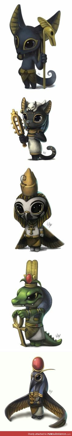Egyptian gods have never been so adorable