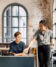 Cargo Crew were assigned to craft Higher Ground's uniform style for experiential dining Cafe Uniform, Uniform Shop, Restaurant Uniforms, Restaurant Restaurant, Australian Interior Design, Interior Design Awards, Melbourne Restaurants, Higher Ground, Clean Lines