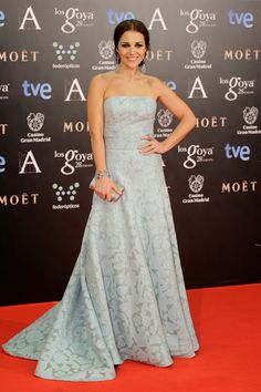 Paula Echevarría in Dolores Promesas - Goya Awards Red Carpet 2014