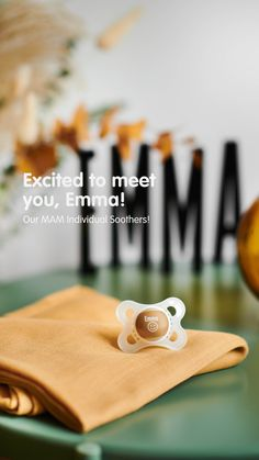 Naming your future baby? 😍 We from MAM have the ideal gift for that occasion – our MAM Individual Soothers! Choose a soother after your own heart and put your baby's name or a special saying to it! Our Baby, Future Baby, Baby Names, Heart, Gifts, Design, Products, Presents