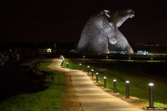 The Kelpies. They are the greatest works of art in Scotland and the largest equine sculptures in the world.