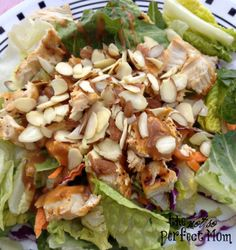 Thai Chicken Salad, a delicious and EASY salad for lunch! The Not So Perfect Mom