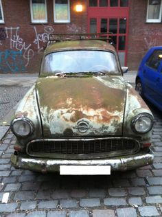 old Opel, front - #Auto, #Car, #Müll, #Trash