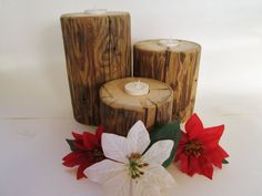 3 Tiered Candle Holders Reclaimed Wood by DivineRusticCreation, $42.95
