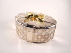 Vintage Silver Plate Metal Jewelry Box Trinket by MissPattisAttic