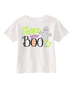 Look what I found on #zulily! White 'Shake Your Boo-ty' Tee - Infant, Toddler & Girls #zulilyfinds