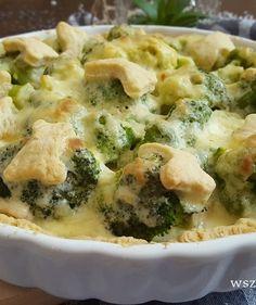 Tarta z brokułami, kurczakiem i sosem czosnkowym - Tarty wytrawne Spanakopita, Broccoli, Vegetables, Ethnic Recipes, Food, Meal, Essen, Vegetable Recipes, Hoods